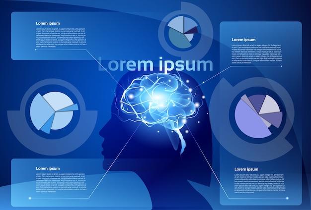 Weibliche gehirn-neuronen-tätigkeits-medizin, die intelligenz denkt