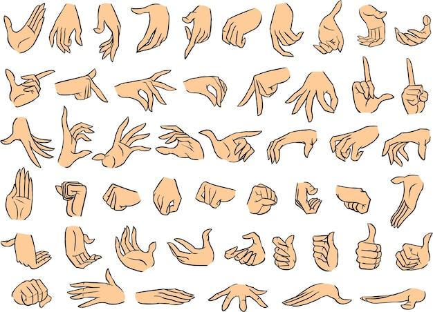 Weibliche hand posiert band 1