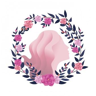 Weibliche silhouette symbol