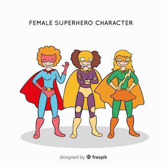 Weibliche superheld-figur