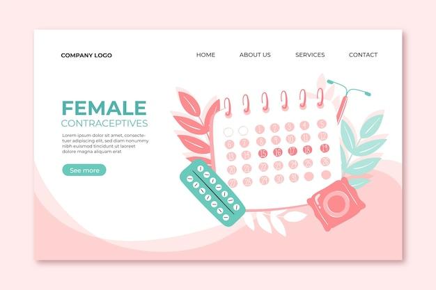 Weibliche verhütungsmittel - landing page