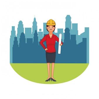 Weiblicher architektavatar