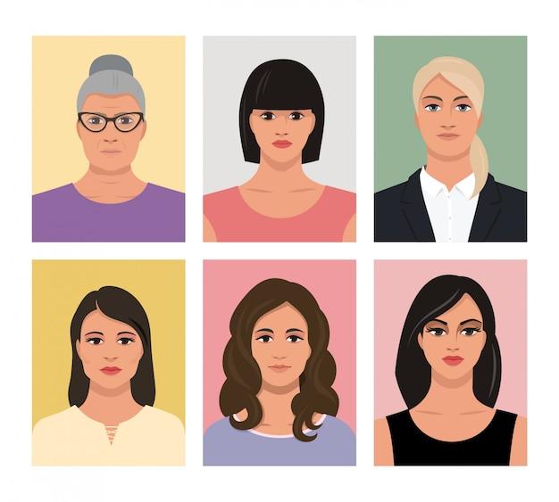 Weiblicher avatar, bildersatz