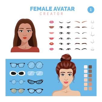 Weiblicher avatar-ersteller teil 1