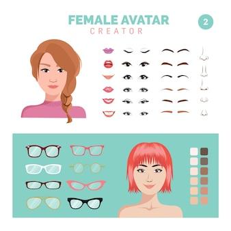 Weiblicher avatar-schöpfer teil 2