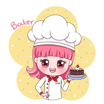 Weiblicher bäcker