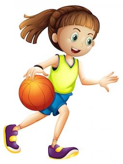 Weiblicher basketballspielercharakter