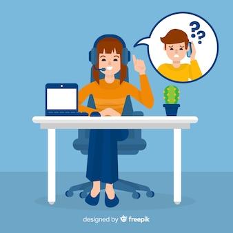 Weiblicher call-center-agent
