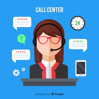 Weiblicher call-center-agent
