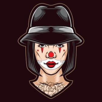 Weiblicher clown chicano
