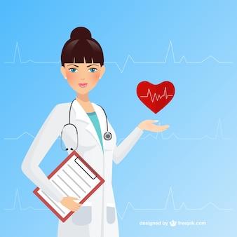 Weiblicher doktor,