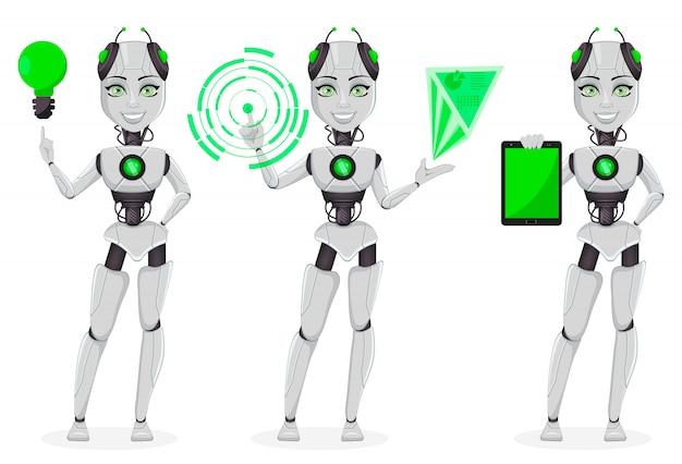 Weiblicher roboter mit künstlicher intelligenz