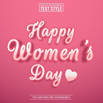 Weiblicher rosa texteffekt des niedlichen skripts