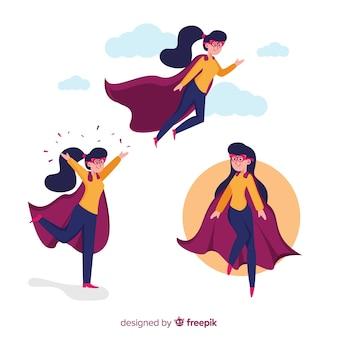 Weiblicher superheld collectio