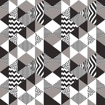 Weibliches buntes geometrisches nahtloses muster