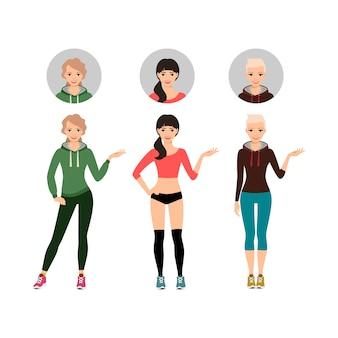 Weibliches eignungsmodell zeigt sportprodukt