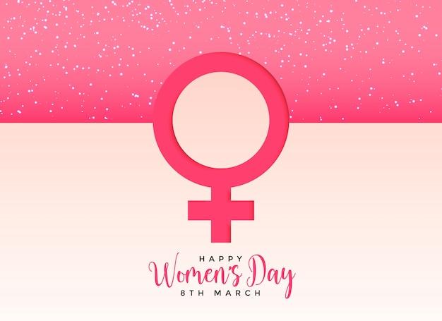 Weibliches geschlechtssymbol auf schönem rosa hintergrund