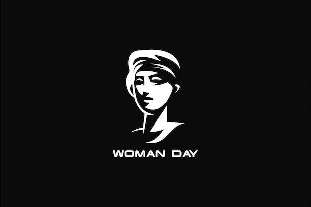 Weibliches symbol mit weiblichem gesicht