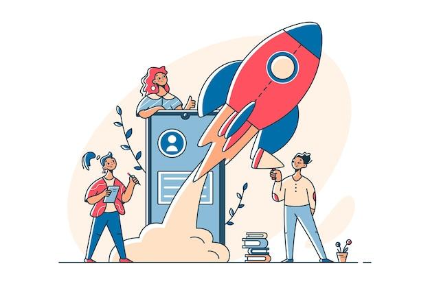 Weibliches team startet erfolgreiches startup