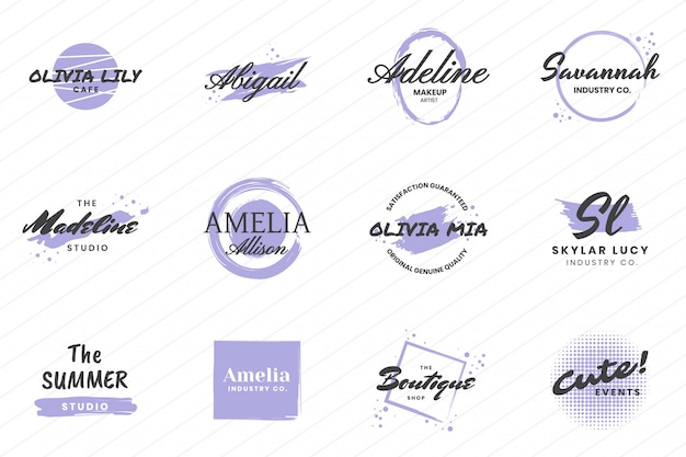 Weibliches weinlese-retro- vektor-logo