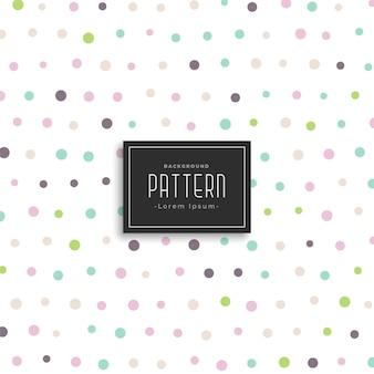 Weiche farbe polka dots hintergrundmuster