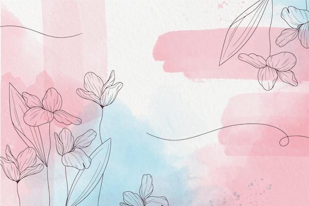 Weiche pastelltapete mit blumen