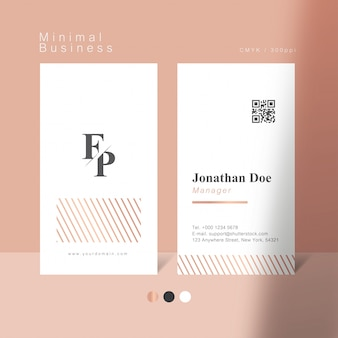 Weiche rosa minimale visitenkarte