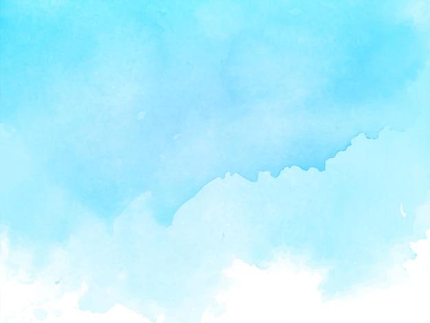 Weicher blauer aquarellbeschaffenheitshintergrund