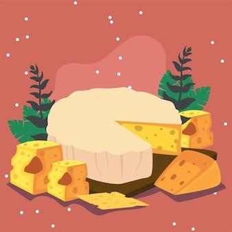 Weicher brie-käse im tablett
