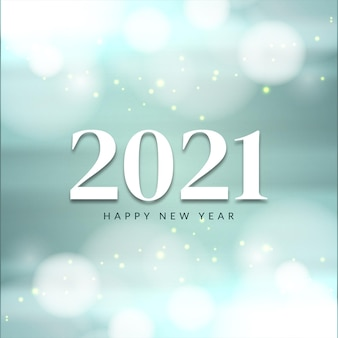 Weicher glanz frohes neues jahr 2021 heller hintergrund