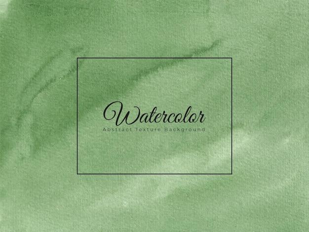 Weicher grüner handgemalter aquarellhintergrund