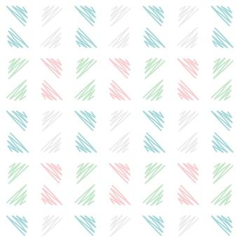 Weicher hand gezeichneter dreieckmusterhintergrund in der skizzenart