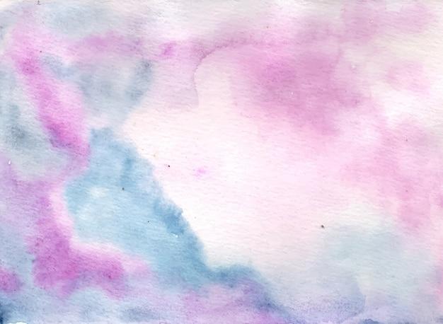 Weicher pastellblauer rosa abstrakter aquarellhintergrund