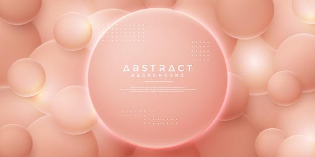 Weicher rosa abstrakter blasenvektorhintergrund
