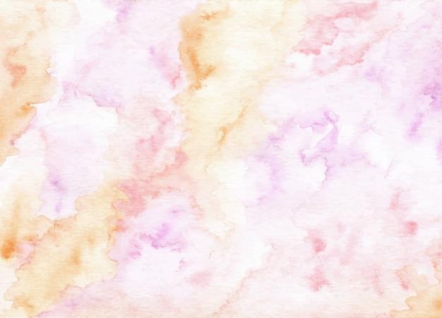 Weicher rosa lila abstrakter aquarellbeschaffenheitshintergrund