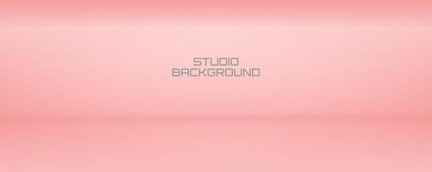 Weicher und glatter rosa showroom-hintergrund und studio-hintergrund für das vorliegende produkt