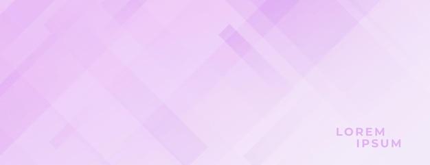 Weiches lila rosa banner mit diagonalen linien