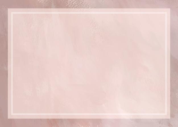 Weiches rosa gemalter rahmenhintergrund