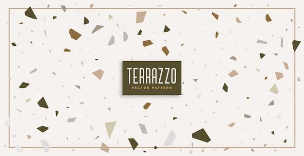 Weiches weißes terrazzomuster-texturhintergrunddesign