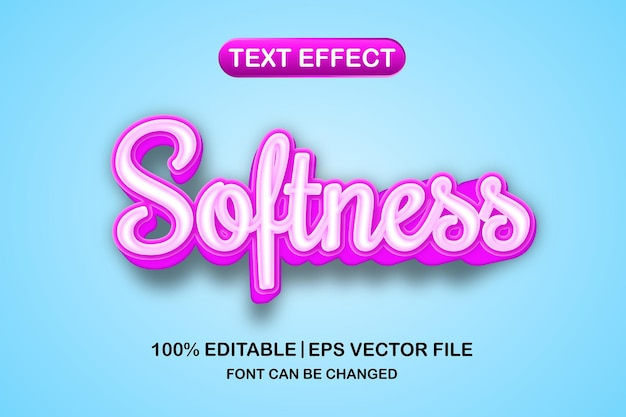 Weichheit 3d bearbeitbarer texteffekt