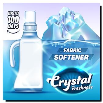 Weichspüler aus kristallfrische