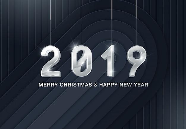Weihnachten 2019 hintergrund mit weihnachtskugel