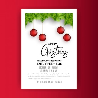Weihnachten 2019 party poster vorlage