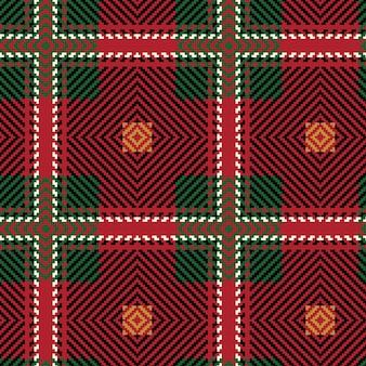 Weihnachten abstraktes muster. schottische gewebte textur. nahtloses muster des klassischen tartans.