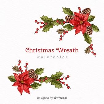 Weihnachten aquarell blumen