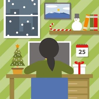 Weihnachten arbeitsplatz