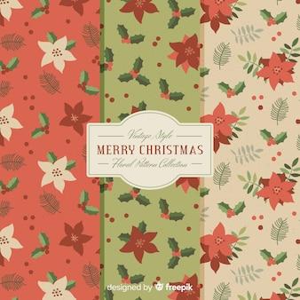 Weihnachten blumen muster
