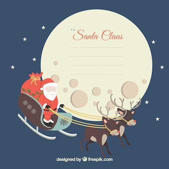 Weihnachten brief an weihnachtsmann-