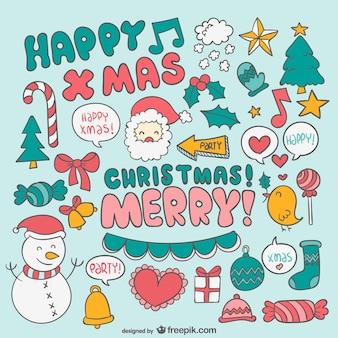 Weihnachten bunte cartoons