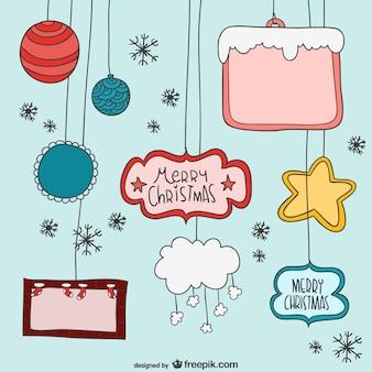 Weihnachten cartoon-elemente